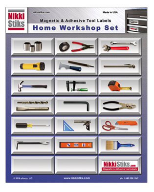 Tool Organization Labels - NikkiStiks - Find Your Tools Fast!