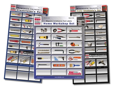 Tool Organization Labels - NikkiStiks® - Find Your Tools Fast!